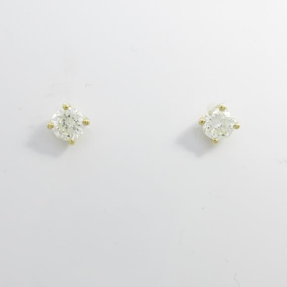 【リメイク】K18YG ダイヤモンドピアス 0.343ct・0.350ct・I・SI2・GOOD【中古】 【店頭受取対応商品】