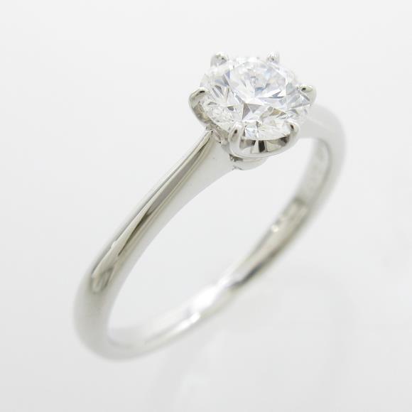 【リメイク】プラチナダイヤモンドリング 0.471ct・D・VS1・EXT【中古】 【店頭受取対応商品】