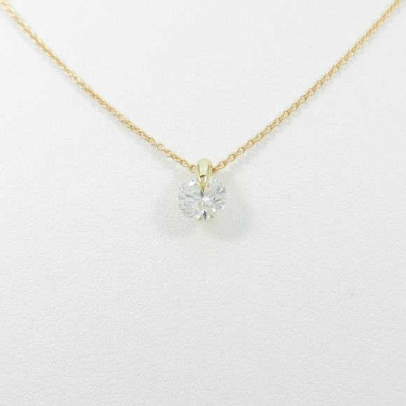 【リメイク】K18YG ダイヤモンドネックレス 0.541ct・H・I1・GOOD【中古】 【店頭受取対応商品】