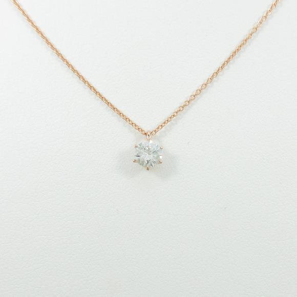 【リメイク】K18PG ダイヤモンドネックレス 0.339ct・J・SI2・GOOD【中古】 【店頭受取対応商品】