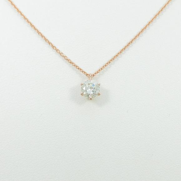 【リメイク】K18PG ダイヤモンドネックレス 0.425ct・K・SI1・VERYGOOD【中古】 【店頭受取対応商品】