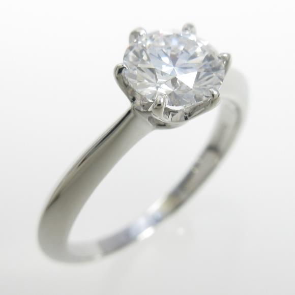 プラチナダイヤモンドリング 0.734ct・D・VVS2・EXT H&C【中古】 【店頭受取対応商品】