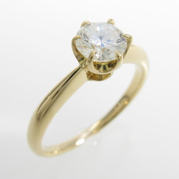 K18YG ダイヤモンドリング 0.591ct・I・SI2・GOOD【中古】 【店頭受取対応商品】