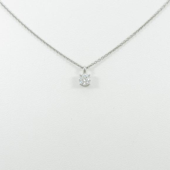 【リメイク】プラチナダイヤモンドネックレス 0.213ct・F・VVS2・EXT【中古】 【店頭受取対応商品】