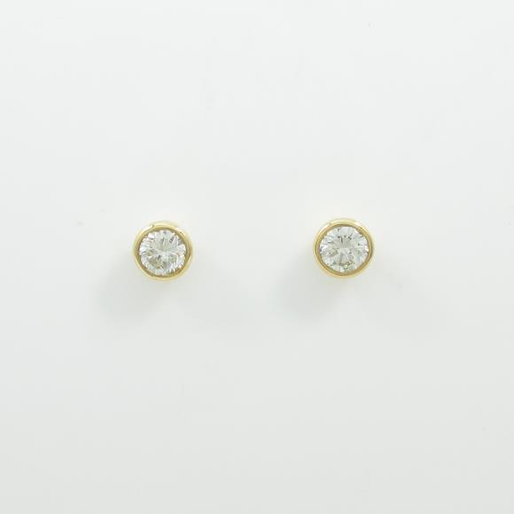 【リメイク】K18YG/ST ダイヤモンドピアス 0.308ct・0.322ct・H・SI2・G【中古】 【店頭受取対応商品】