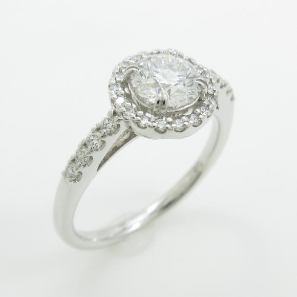 【リメイク】プラチナダイヤモンドリング 0.618ct・E・VS1・VERYGOOD【中古】 【店頭受取対応商品】