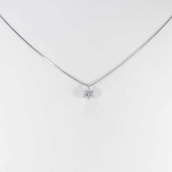 【リメイク】プラチナダイヤモンドネックレス 0.306ct・F・SI2・GOOD【中古】 【店頭受取対応商品】