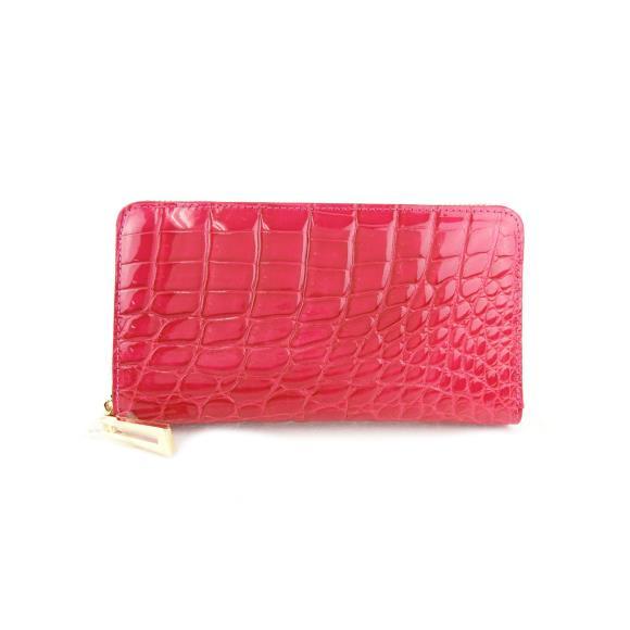 【新品】シャイニングクロコラウンド財布【新品】 【店頭受取対応商品】