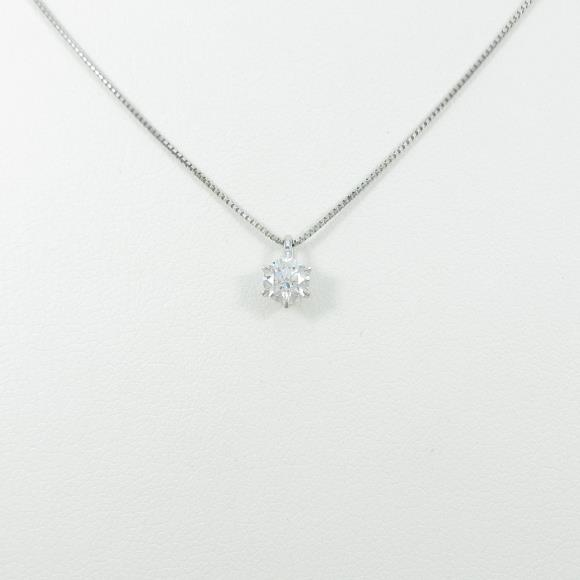 【リメイク】プラチナダイヤモンドネックレス 0.324ct・E・SI1・VERYGOOD【中古】 【店頭受取対応商品】
