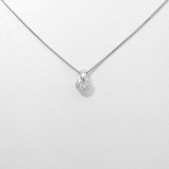 【リメイク】プラチナダイヤモンドネックレス 0.321ct・F・SI2・GOOD【中古】 【店頭受取対応商品】