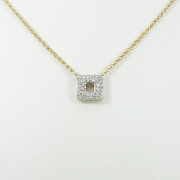 K18YG/K18WG パヴェ ダイヤモンドネックレス【中古】 【店頭受取対応商品】