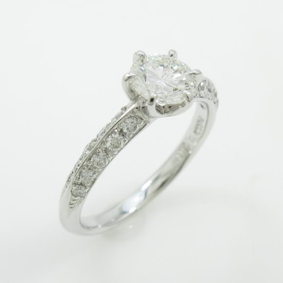 【リメイク】プラチナダイヤモンドリング 0.561ct・H・SI1・VERYGOOD【中古】 【店頭受取対応商品】