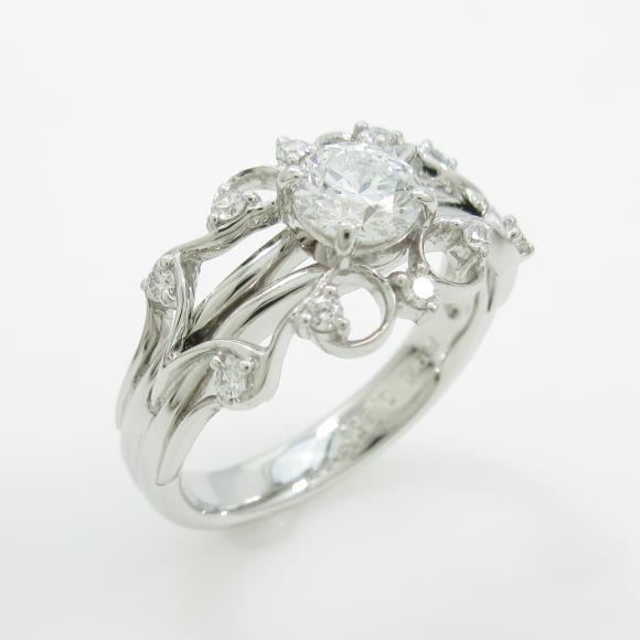 【リメイク】プラチナダイヤモンドリング 0.503ct・F・SI2・VERYGOOD【中古】 【店頭受取対応商品】