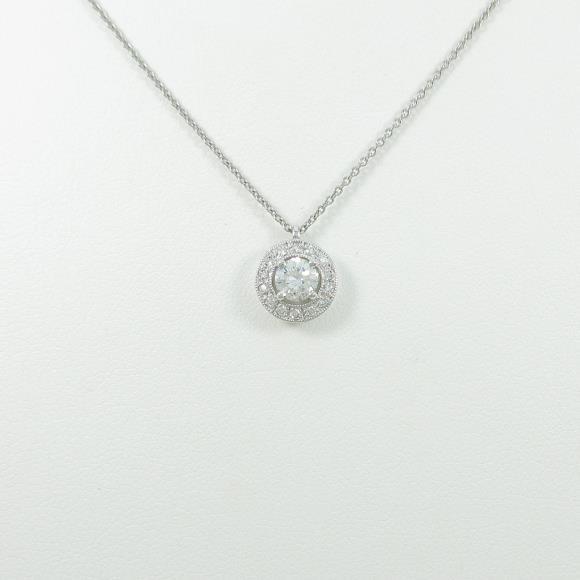 【リメイク】プラチナダイヤモンドネックレス 0.312ct・D・SI1・GOOD【中古】 【店頭受取対応商品】