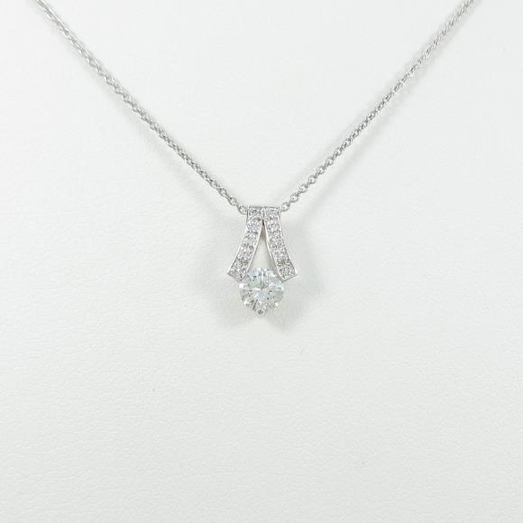 【リメイク】プラチナダイヤモンドネックレス 0.304ct・F・VS2・GOOD【中古】 【店頭受取対応商品】