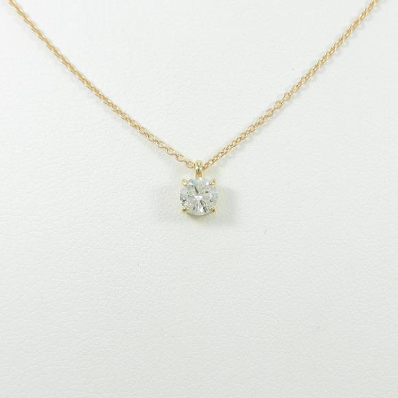 【リメイク】K18YG ダイヤモンドネックレス 0.309ct・I・I1・VERYGOOD【中古】 【店頭受取対応商品】