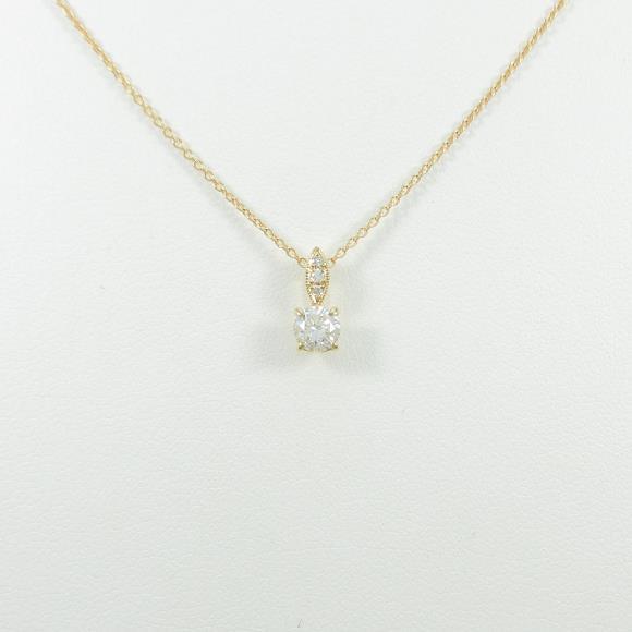 【リメイク】K18YG ダイヤモンドネックレス 0.302ct・H・SI2・GOOD【中古】 【店頭受取対応商品】