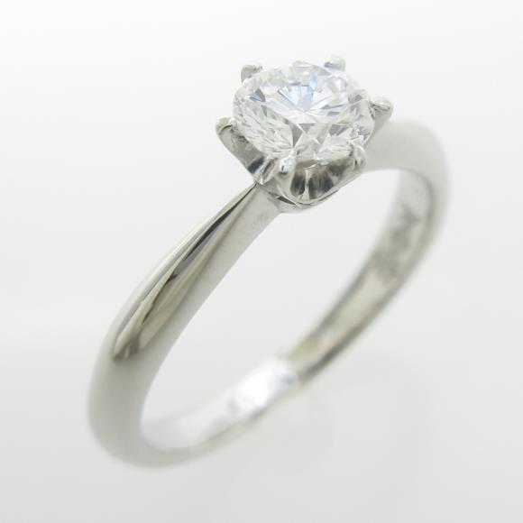 プラチナダイヤモンドリング 0.421ct・F・VS1・GOOD【中古】 【店頭受取対応商品】