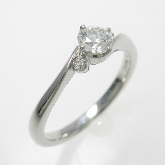 プラチナダイヤモンドリング 0.264ct・E・VS1・EXCELLENT【中古】 【店頭受取対応商品】