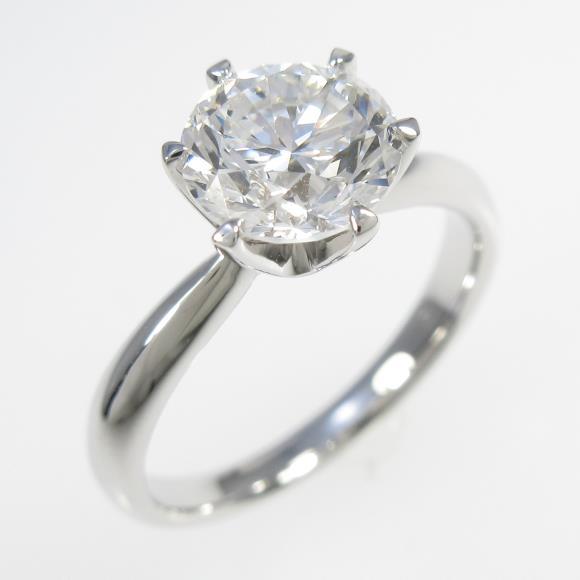 【リメイク】プラチナダイヤモンドリング 1.529ct・F・VS1・GOOD【中古】 【店頭受取対応商品】
