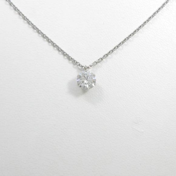 【リメイク】プラチナダイヤモンドネックレス 1.033ct・F・SI2・EXCELLENT【中古】 【店頭受取対応商品】