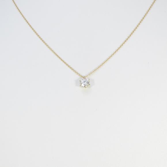 【リメイク】K18YG ダイヤモンドネックレス 0.751ct・I・VS2・VERYGOOD【中古】 【店頭受取対応商品】