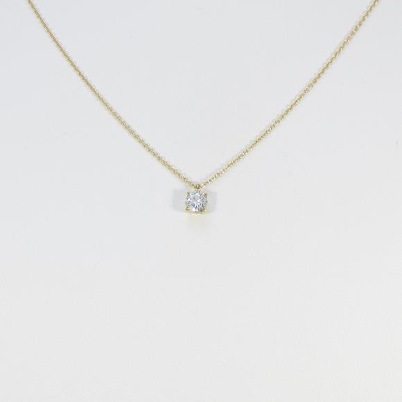 【リメイク】K18YG ダイヤモンドネックレス 0.316ct・H・VS1・VERYGOOD【中古】 【店頭受取対応商品】