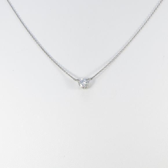 【リメイク】プラチナダイヤモンドネックレス 0.433ct・G・SI2・ハートシェイプ【中古】 【店頭受取対応商品】