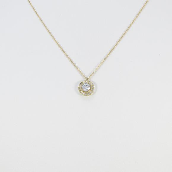 【リメイク】K18YG ダイヤモンドネックレス 0.343ct・H・SI2・VERYGOOD【中古】 【店頭受取対応商品】