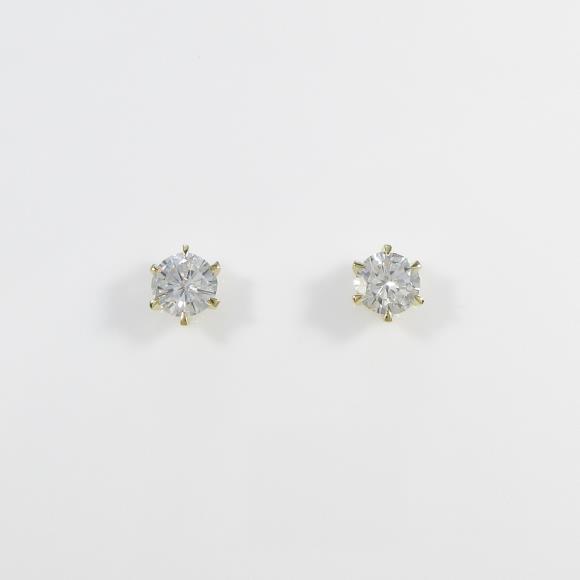 【リメイク】K18YG ダイヤモンドピアス 0.291ct・0.291ct・H-I・SI1・GOOD【中古】 【店頭受取対応商品】