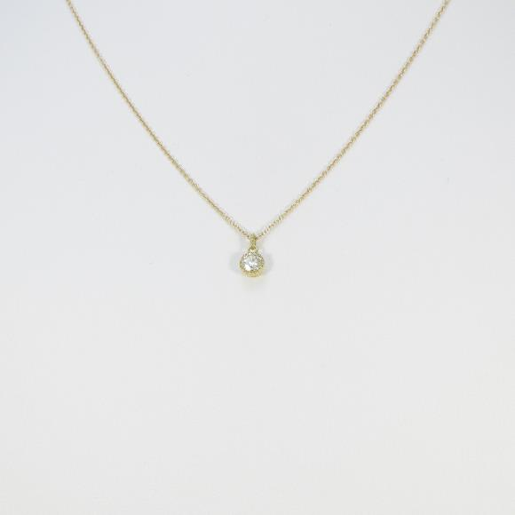 【リメイク】K18YG ダイヤモンドネックレス 0.227ct・VLY・VVS2・VERYGOOD【中古】 【店頭受取対応商品】