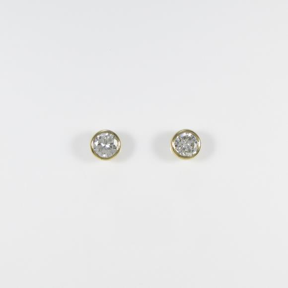 【リメイク】K18YG/ST ダイヤモンドピアス 0.315ct・0.330ct・H・SI2・G【中古】 【店頭受取対応商品】