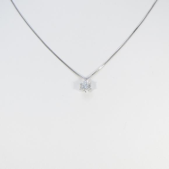 【リメイク】プラチナダイヤモンドネックレス 1.026ct・H・SI2・GOOD【中古】 【店頭受取対応商品】