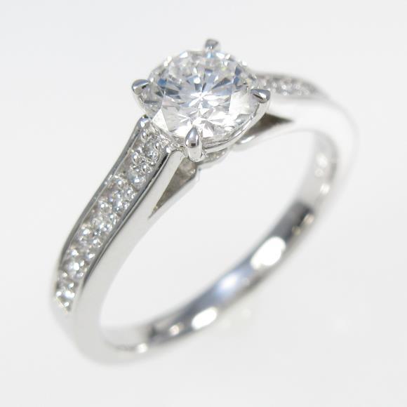 【リメイク】プラチナダイヤモンドリング 0.511ct・D・VVS2・VERYGOOD【中古】 【店頭受取対応商品】