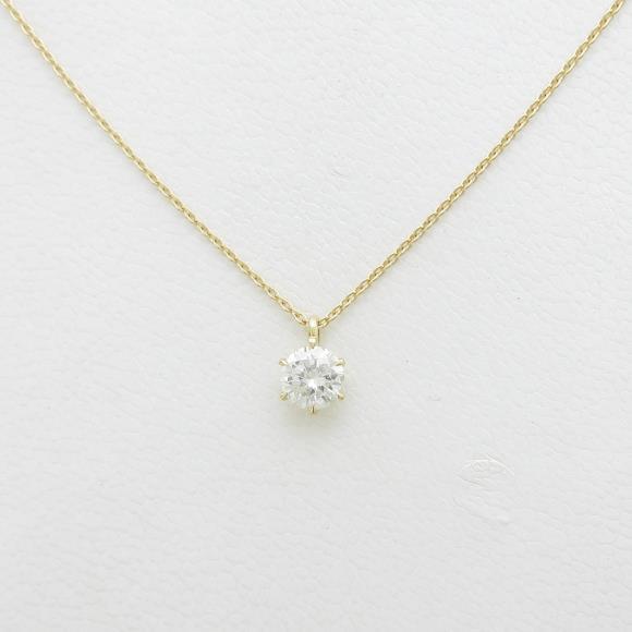 【リメイク】K18YG ダイヤモンドネックレス 0.412ct・H・I1・GOOD【中古】 【店頭受取対応商品】