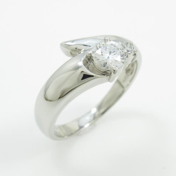 プラチナダイヤモンドリング 0.306ct・D・VS1・GOOD【中古】 【店頭受取対応商品】