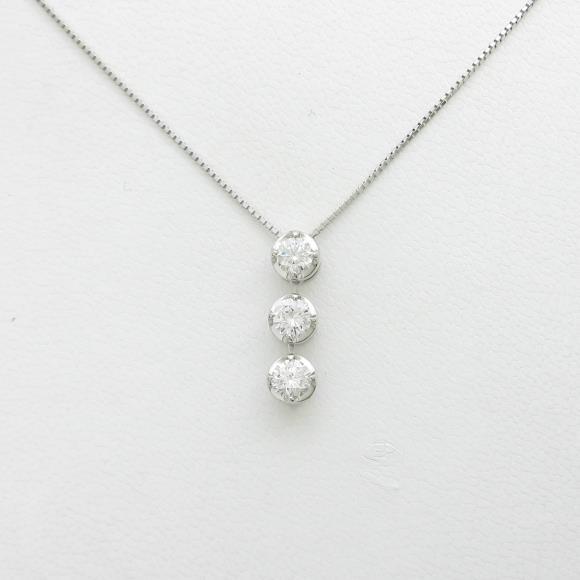 【新品】プラチナダイヤモンドネックレス 0.710ct・F・SI2・GOOD【新品】 【店頭受取対応商品】