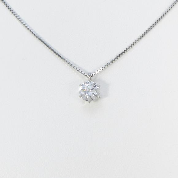 【新品】プラチナダイヤモンドネックレス 0.70ct・D・SI2・3EXCELLENT【新品】 【店頭受取対応商品】
