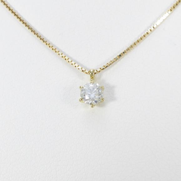 【新品】K18YG ダイヤモンドネックレス 0.317・H・SI2・VERYGOOD【新品】 【店頭受取対応商品】