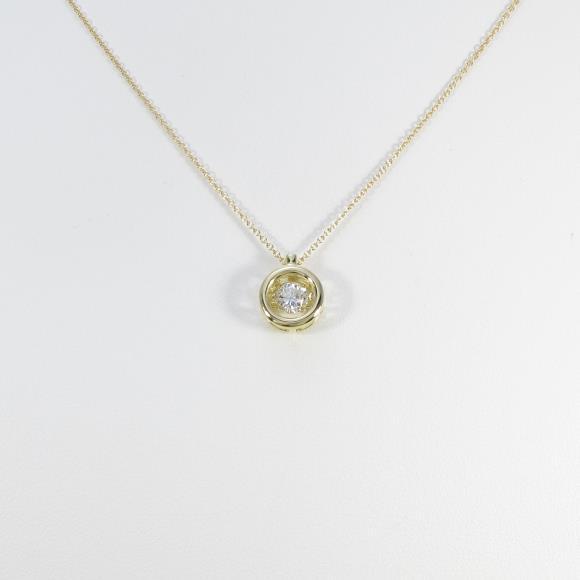 【リメイク】K18YG ダイヤモンドネックレス 0.326ct・J・SI1・GOOD【中古】 【店頭受取対応商品】