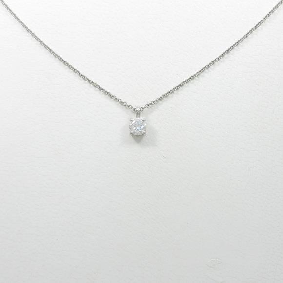 【リメイク】プラチナダイヤモンドネックレス 0.211ct・E・VS1・GOOD【中古】 【店頭受取対応商品】