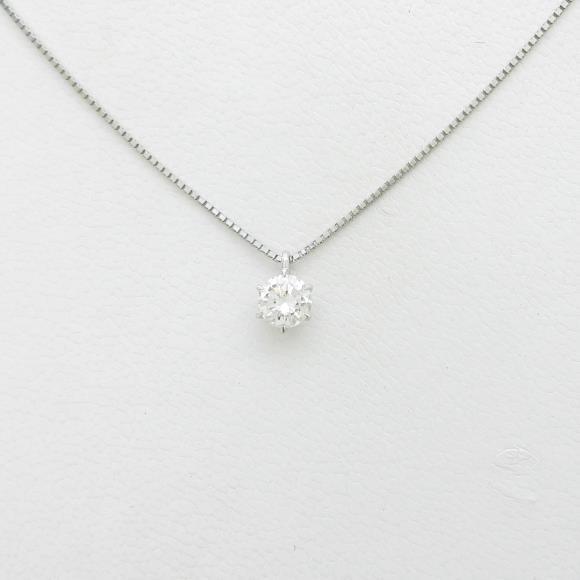 【リメイク】プラチナダイヤモンドネックレス 0.407ct・H・SI1・GOOD【中古】 【店頭受取対応商品】