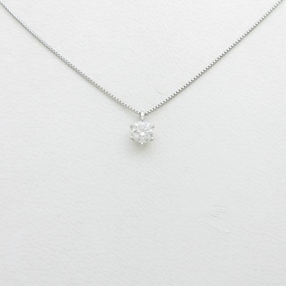 【リメイク】プラチナダイヤモンドネックレス 0.263ct・F・VS1・EXT H&C【中古】 【店頭受取対応商品】