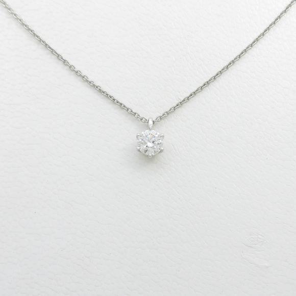 【リメイク】プラチナダイヤモンドネックレス 0.244・D・VS2・EXT【中古】 【店頭受取対応商品】