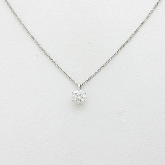 【リメイク】プラチナダイヤモンドネックレス 0.320ct・E・VS2・EXT【中古】 【店頭受取対応商品】