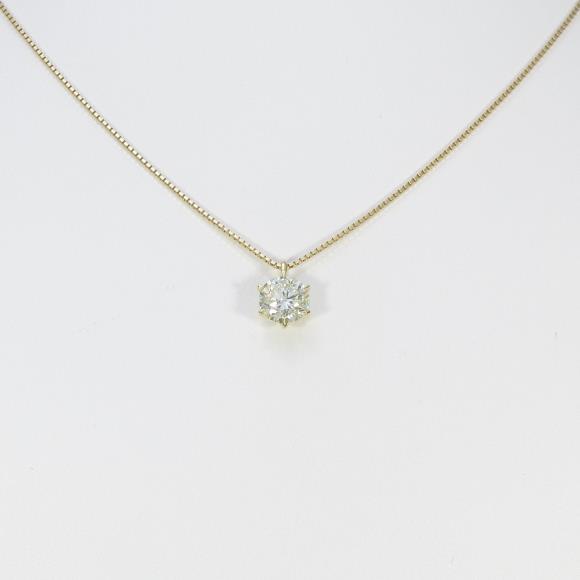 【リメイク】K18YG ダイヤモンドネックレス 1.516ct・VLY・SI1・VERYGOOD【中古】 【店頭受取対応商品】