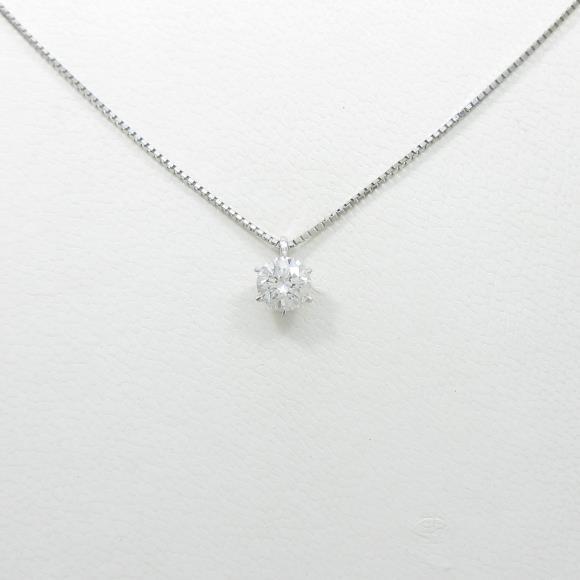 【リメイク】プラチナダイヤモンドネックレス 0.555ct・F・SI1・VERYGOOD【中古】 【店頭受取対応商品】