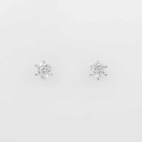 【リメイク】ST/プラチナダイヤモンドピアス 0.305ct・0.306ct・E・VS2・VG【中古】 【店頭受取対応商品】