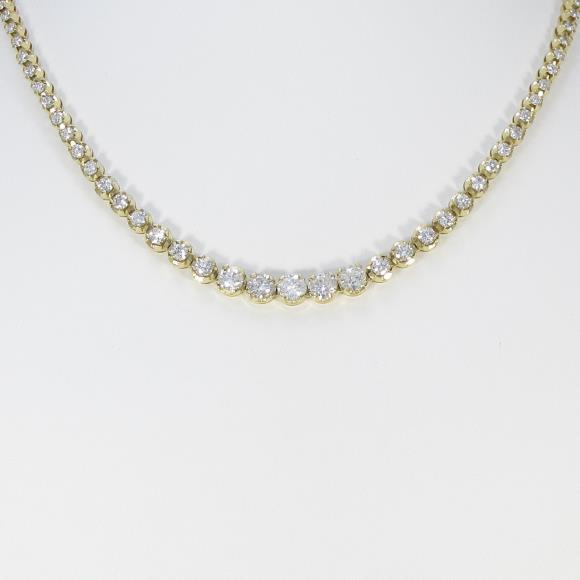 750YG ダイヤモンドネックレス【中古】 【店頭受取対応商品】