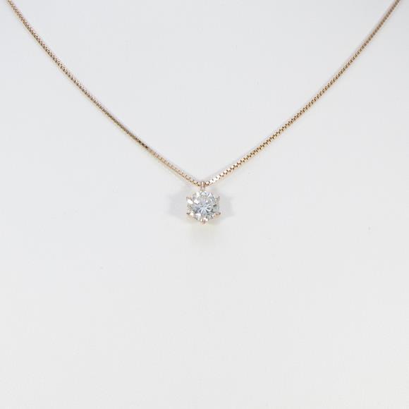 【リメイク】K18PG ダイヤモンドネックレス 1.311ct・J・SI1・GOOD【中古】 【店頭受取対応商品】
